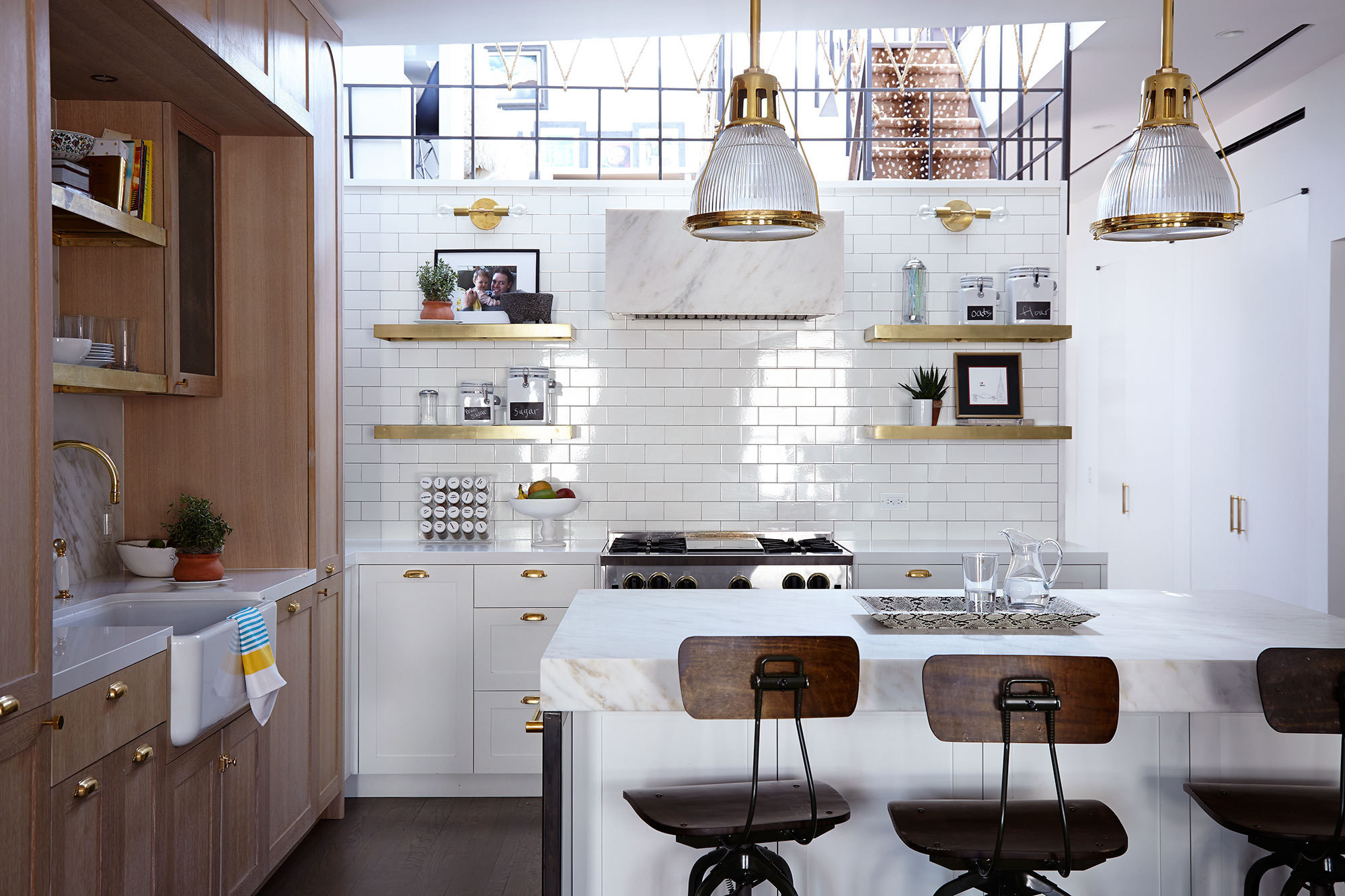 Tiled kitchen walls are the latest home design trend for Kitchen wall island