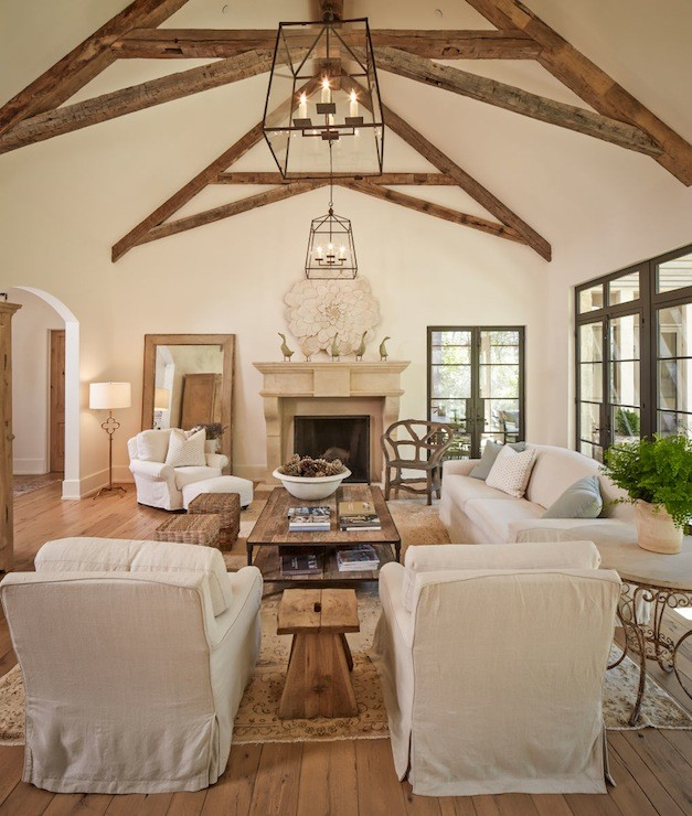Vaulted Living Room Floor Plans: 20 Lavish Living Room Designs With Vaulted Ceilings