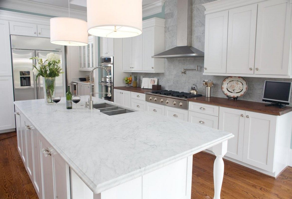 White Marble Counter : Pictures of gorgeous marble kitchens