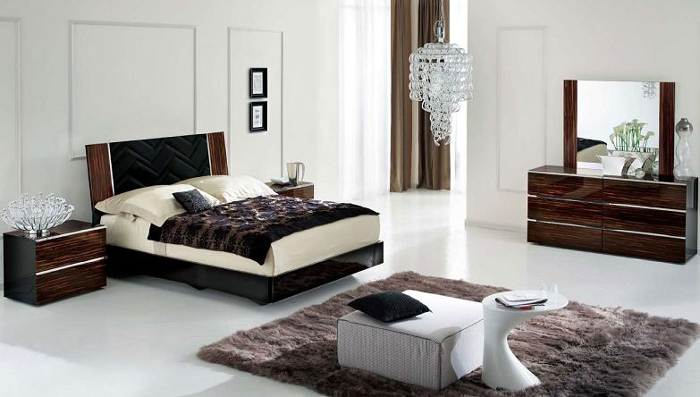 20 jaw dropping bedrooms with dark furniture for Bedroom designs with dark wood furniture