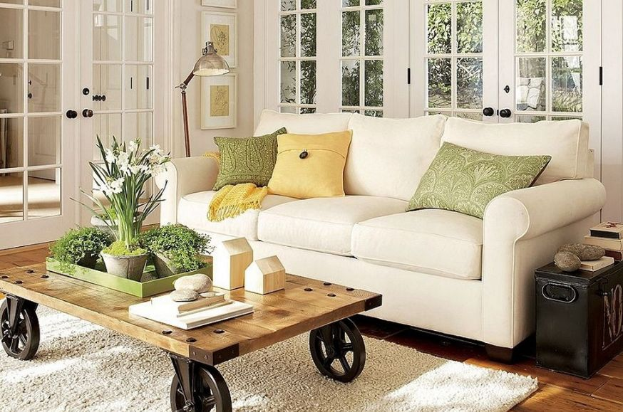 Classic Country Style Living Room Ideas Set