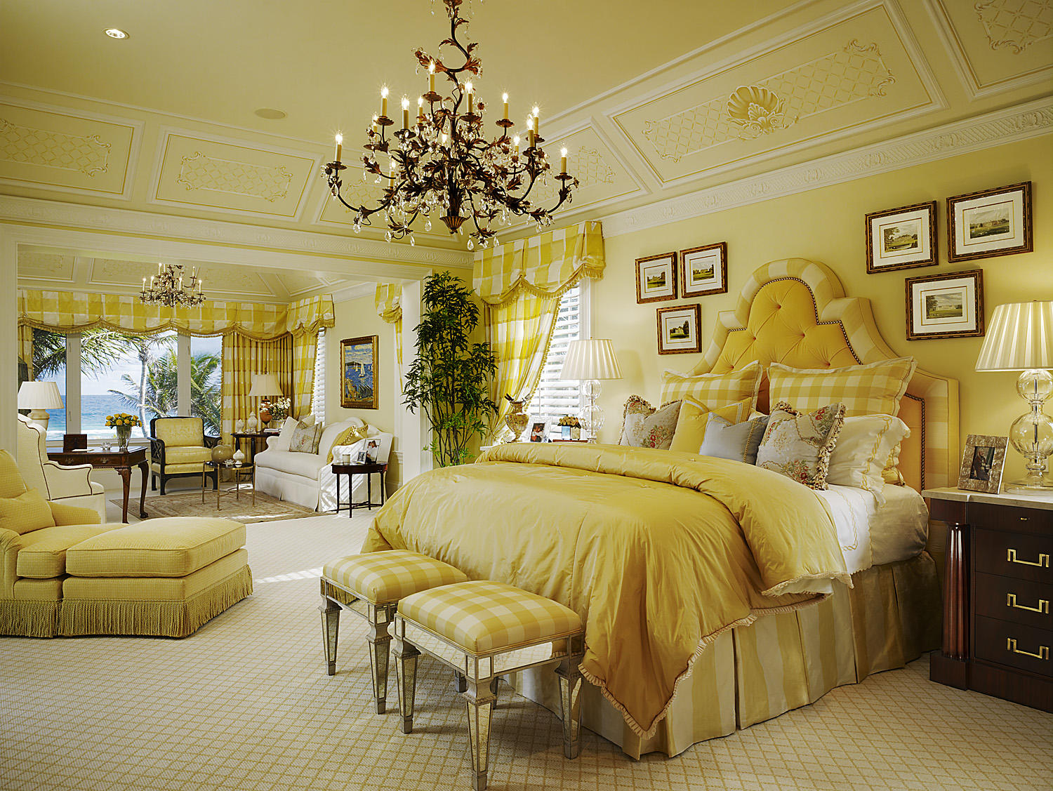 10 beautiful master bedrooms with yellow walls Master bedroom with yellow walls